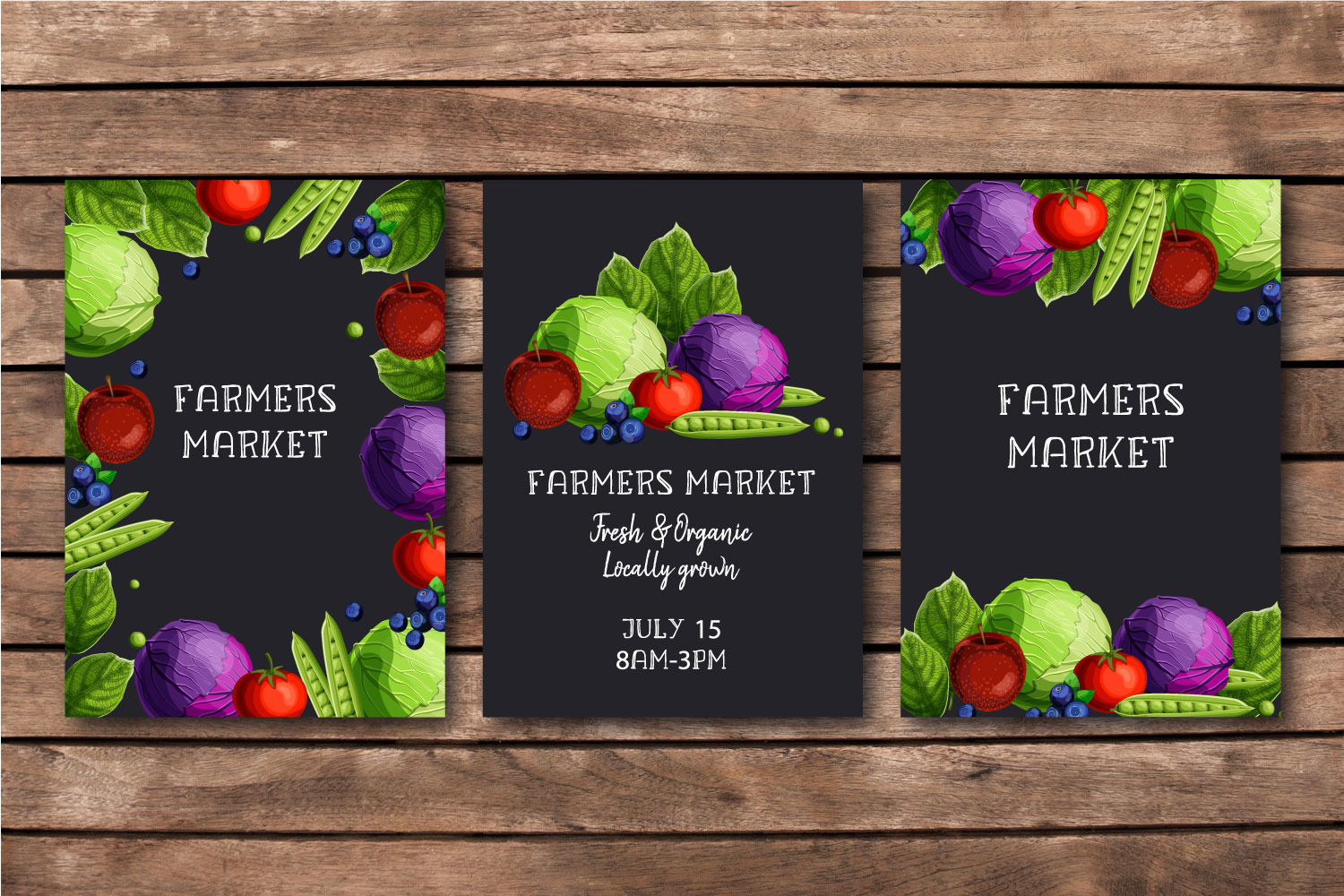 Farmers Market templates set