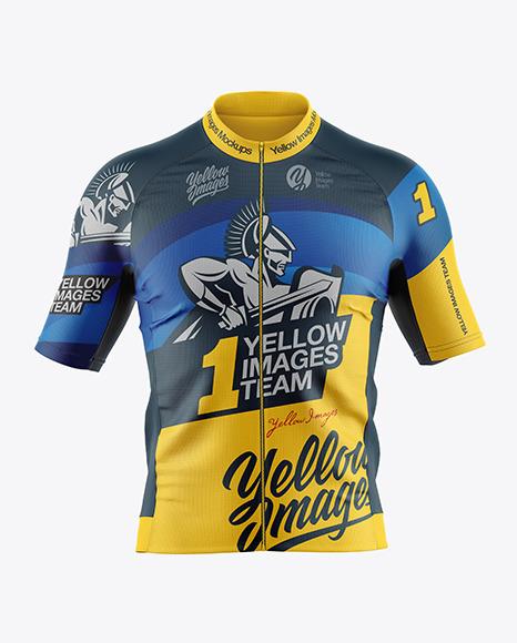 Download Mens Cycling Jersey PSD Mockup