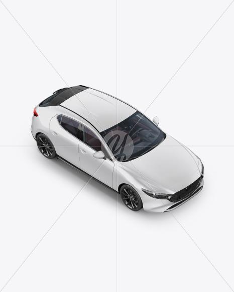 Hatchback Mockup - Half Side View (High-Angle Shot) - Yellowimages Mockups