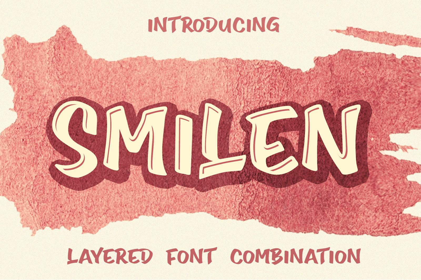 Smilen Extrude Font