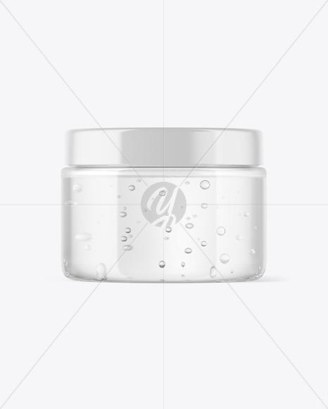 Clear Jar with Gel Mockup