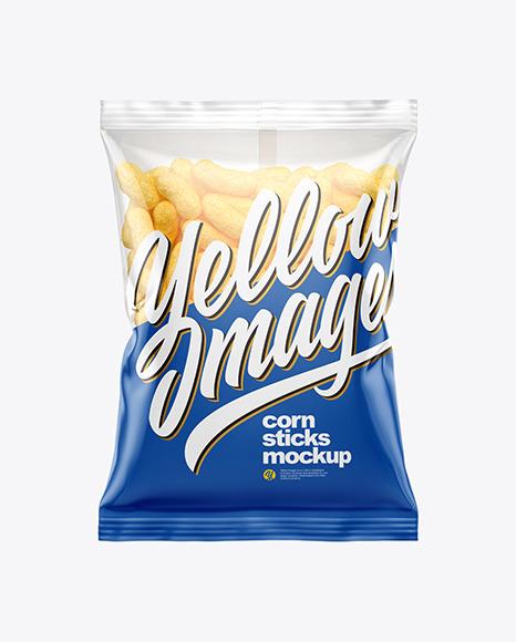 Download Bag With Corn Sticks PSD Mockup