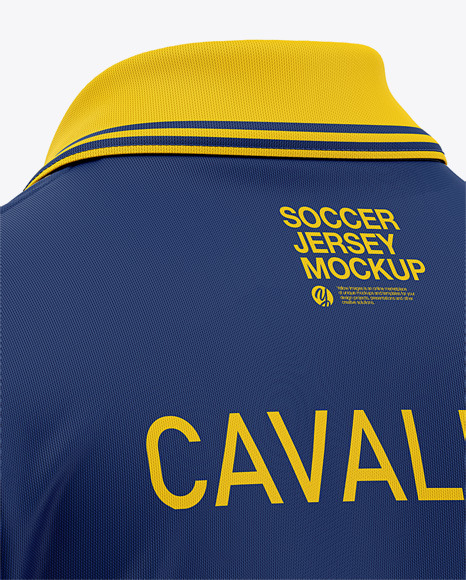 Men's Soccer Jersey / Cricket Jersey Mockup - Back Half Side View of Polo Shirt