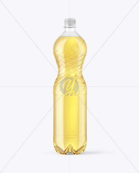 1,5L PET Green Tea Bottle Mockup
