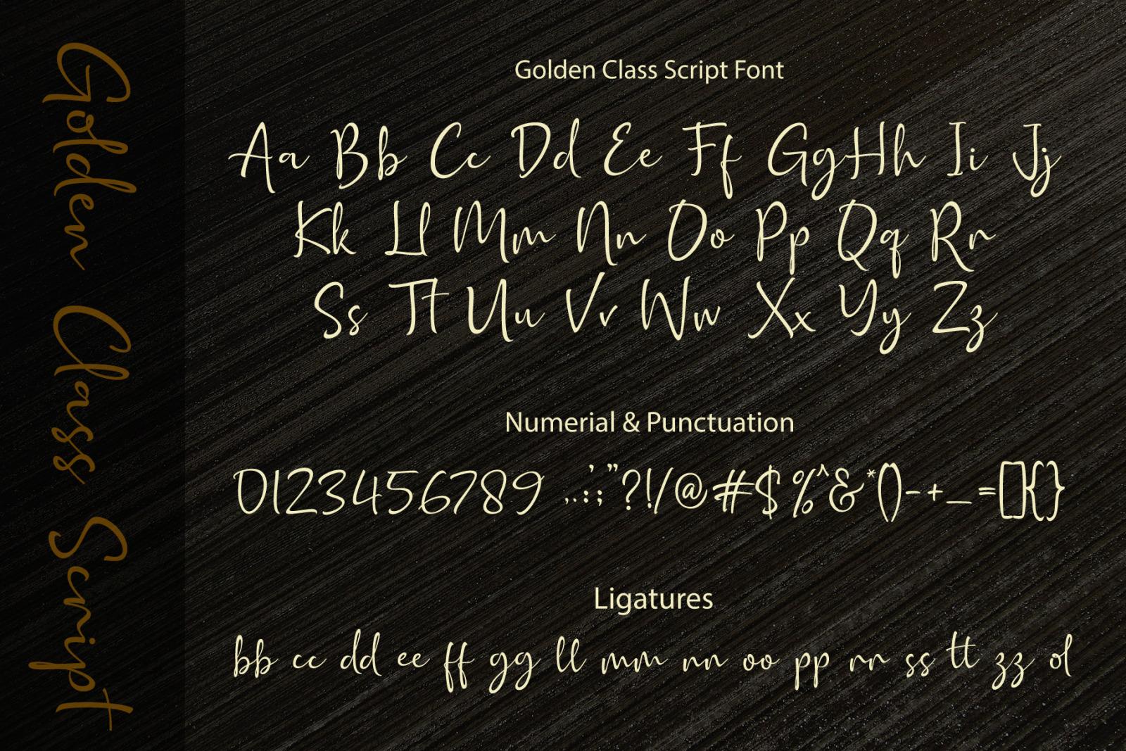 Golden Class Font Duo