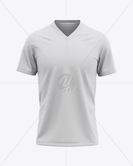 Men's V-Neck T-Shirt Mockup - Front View