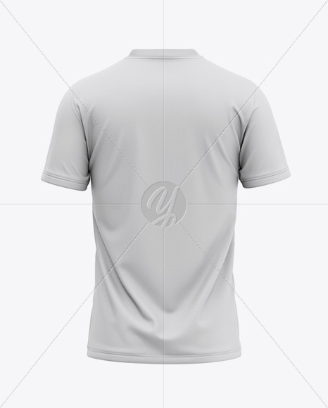 Download Men S V Neck T Shirt Mockup Back View In Apparel Mockups On Yellow Images Object Mockups