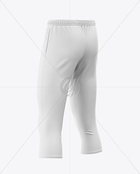 Men's Three Quarter Soccer Pants Mockup - Back Half-Side View