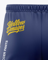 Men's Three Quarter Soccer Pants Mockup - Back View