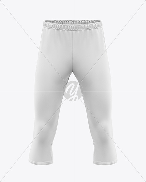 Men's Three Quarter Soccer Pants Mockup - Front View