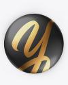 Glossy Button Pin Mockup - Front & Back Views