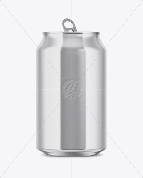 350ml Glossy Aluminium Drink Can Mockup
