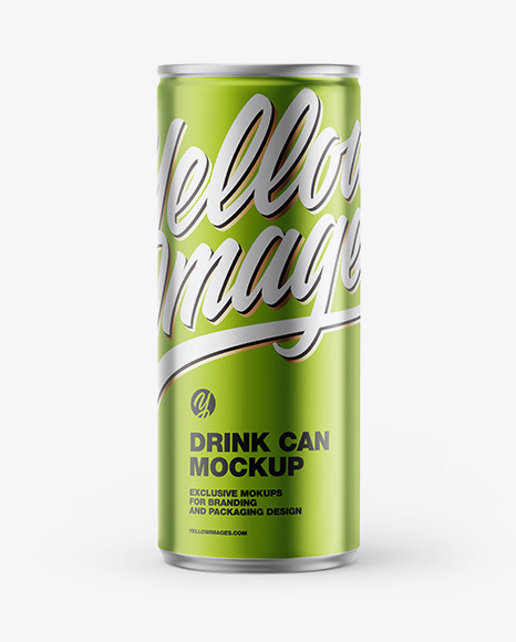Download Glossy Metallic Can PSD Mockup