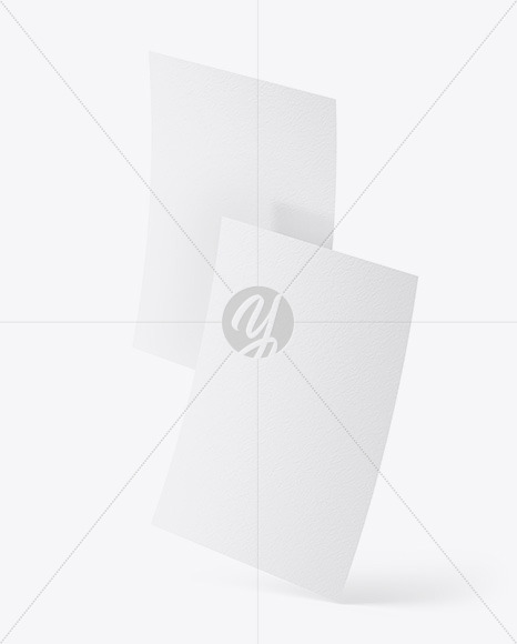 Two Textured A4 Papers Mockup
