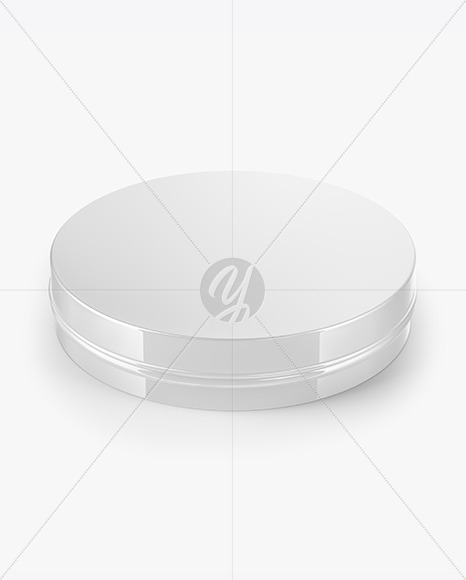 Glossy Round Cosmetic Tin Can Mockup
