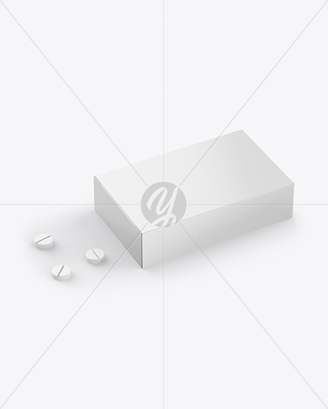 Paper Box With Tablets Mockup