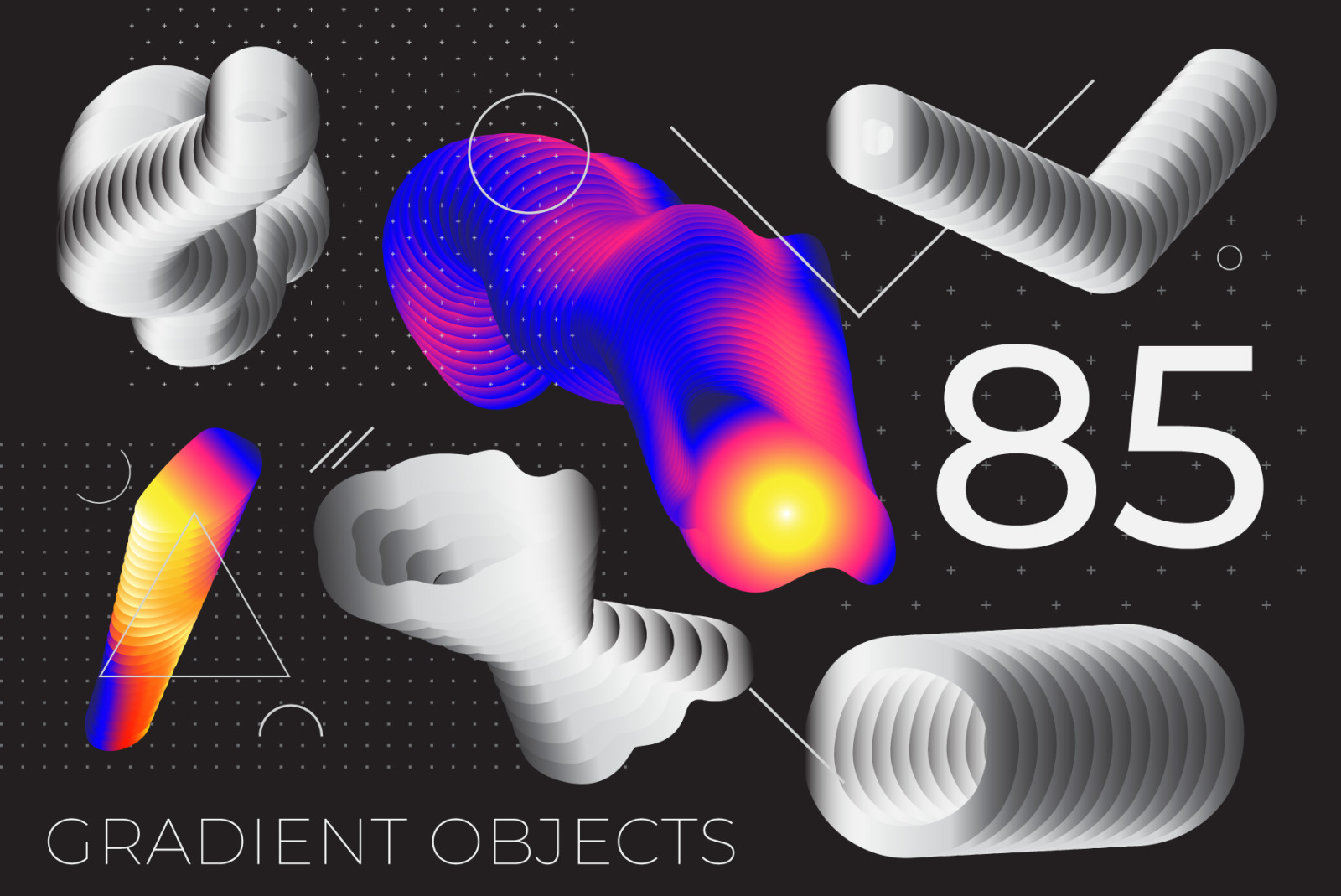 85 Gradient Object Poster Background