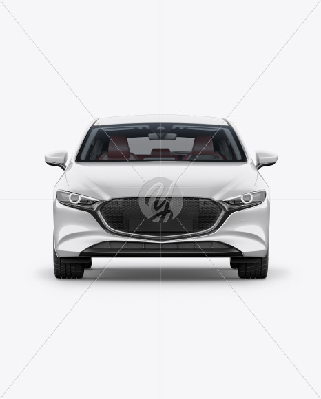 Hatchback Mockup - Front View - Yellowimages Mockups