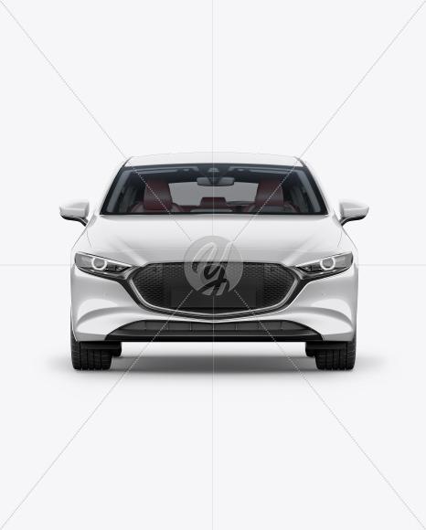 Hatchback Mockup - Front View