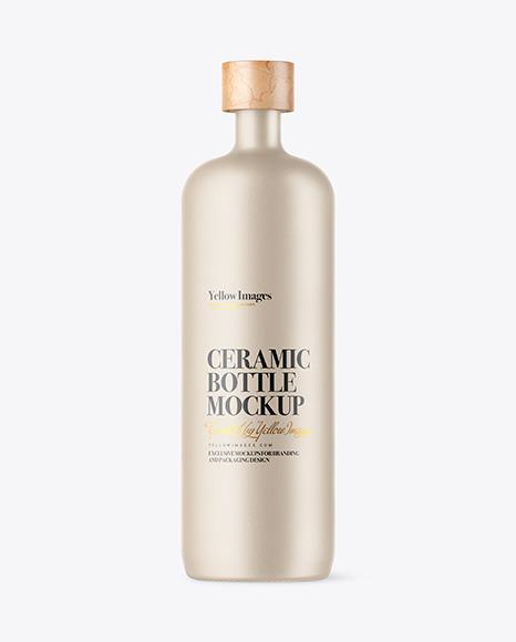 Matte Ceramic Bottle Mockup