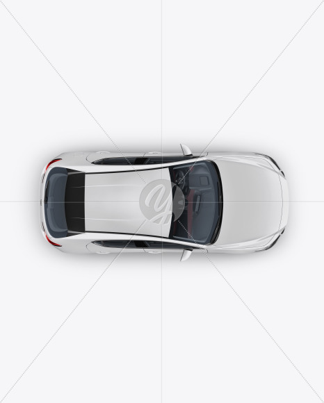 Hatchback Mockup - Top View - Yellowimages Mockups