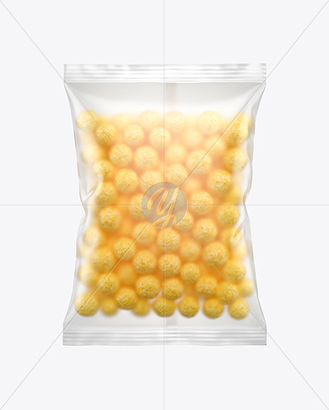 Matte Bag With Corn Balls Mockup