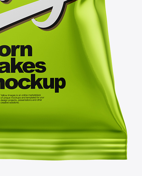Matte Bag With Corn Flakes Mockup