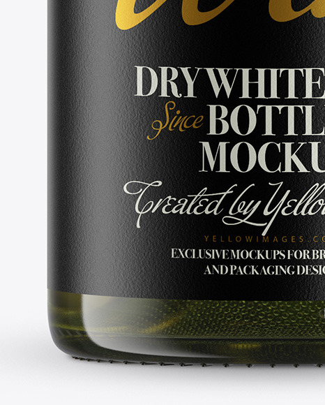 Antique Green Wine Bottle Mockup