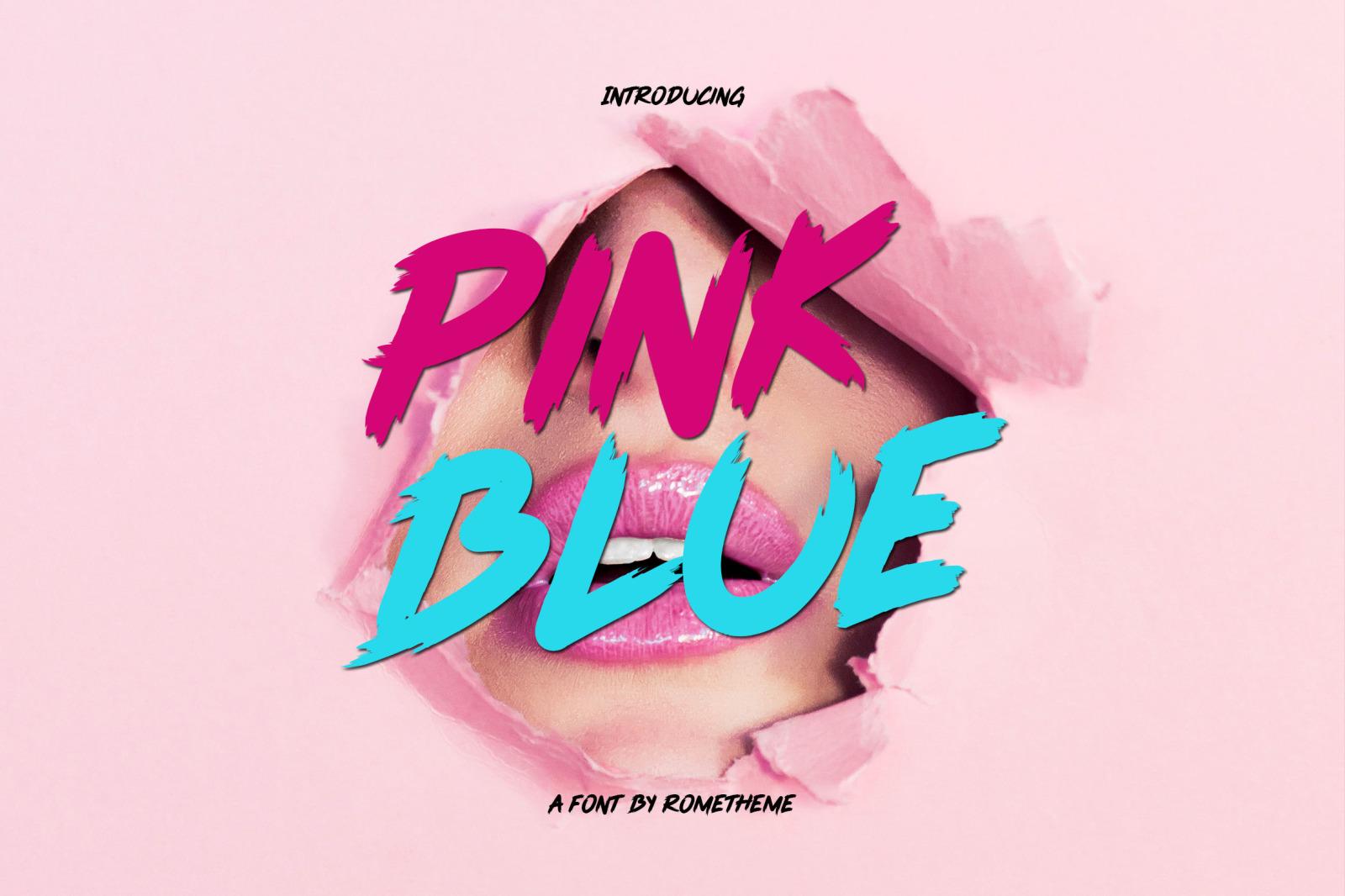 Pink Blue – Brush Display Font