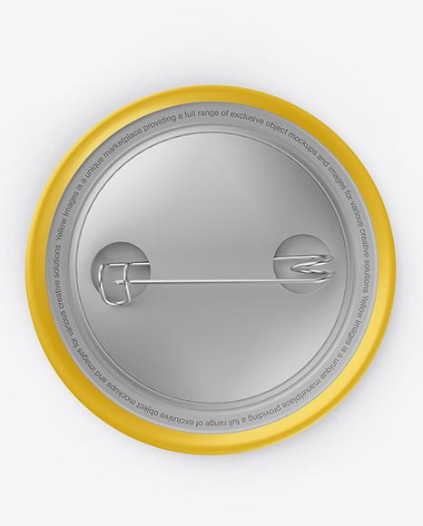 Matte Button Pin Mockup