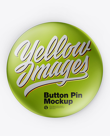 Metallic Button Pin Mockup