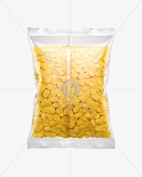 Bag With Corn Flakes Mockup