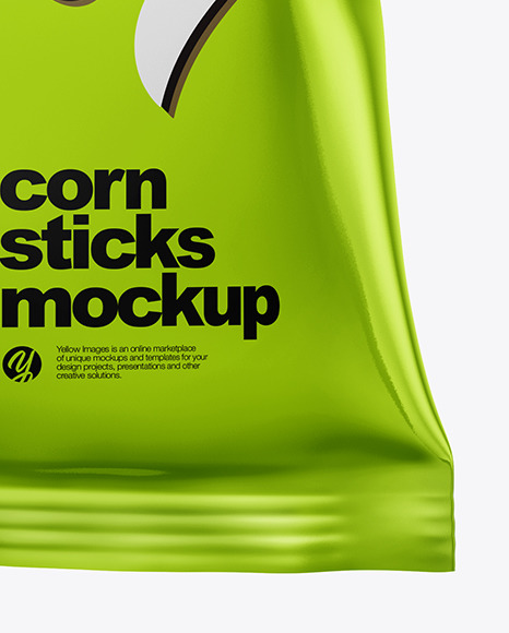 Frosted Bag With Corn Sticks Mockup