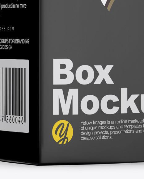 Green Frosted Dropper Bottle w/ Box Mockup