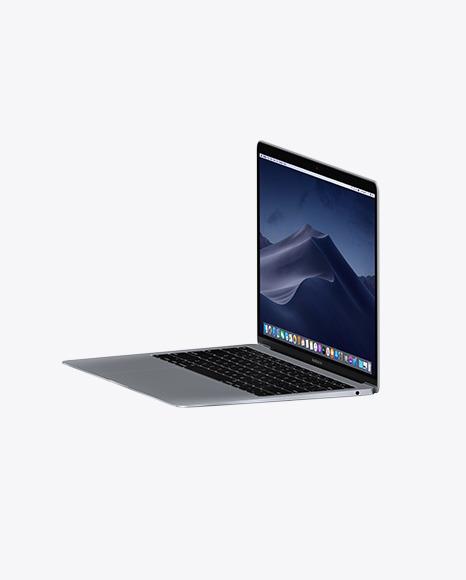 Space Gray MacBook Air Mockup