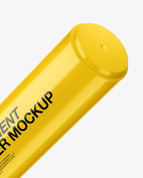 Glossy Permanent Marker Mockup