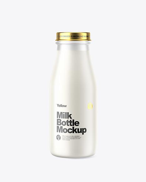 Frosted Milk Bottle Mockup