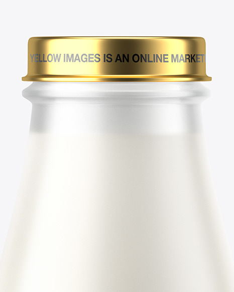 Frosted Milk Bottle Mockup