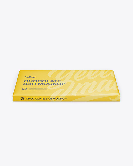 Paper Chocolate Bar Mockup - Front View (High Angle Shot)