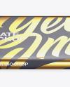 Paper Chocolate Bar Mockup - Front View (High Angle Shot)
