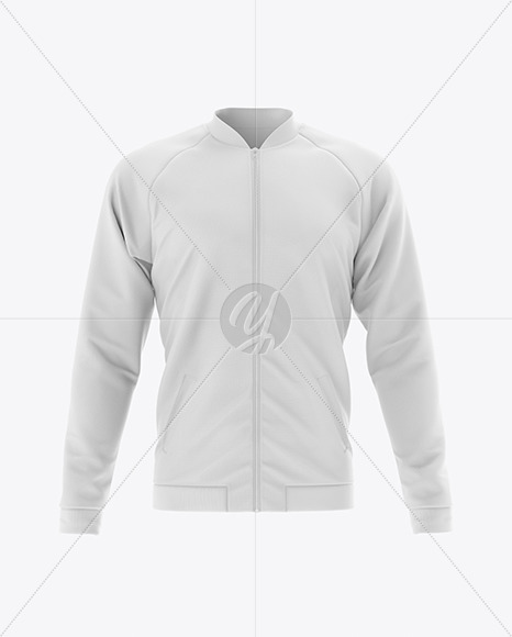 Men's Raglan Bomber Jacket Mockup - Front View