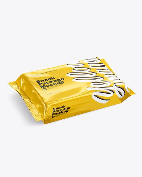 Glossy Snack Pack Mockup