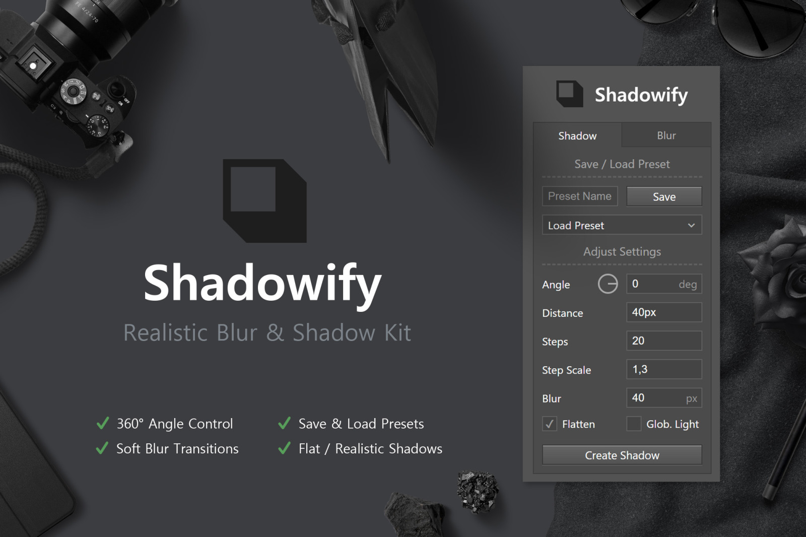 Shadowify - Realistic Blur & Shadow Kit