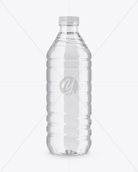 Clear Bottle Mockup