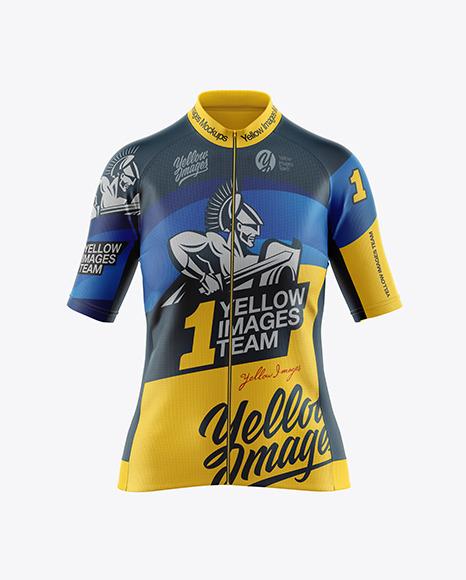 Women's Cycling Jersey Mockup