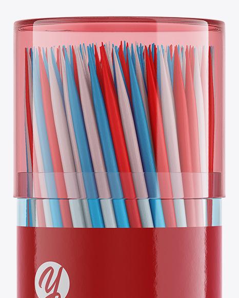 Toothpicks Jar Mockup
