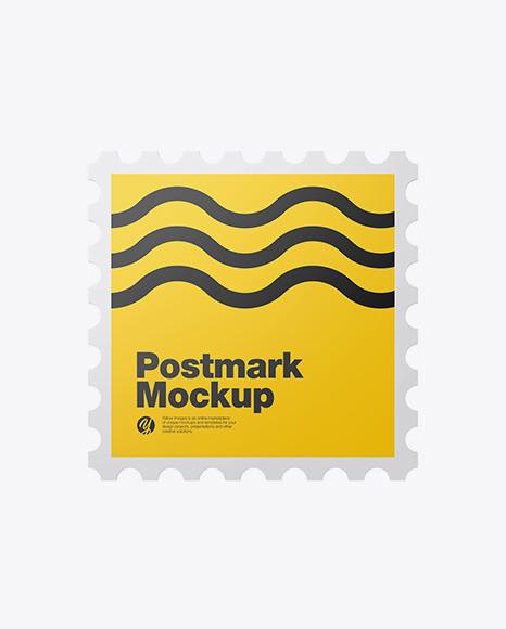 Square Postmark Mockup