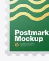 Square Textured Postmark Mockup