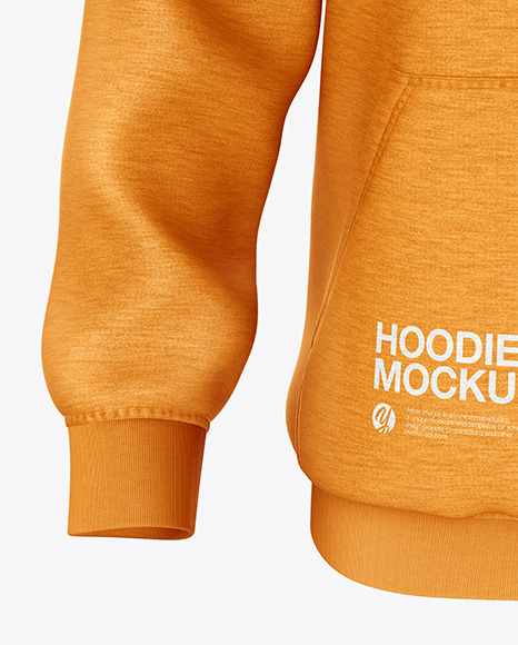Melange Hoodie Mockup - Front View