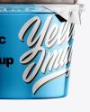 Metallic Plastic Cup with Chocolate Balls Mockup